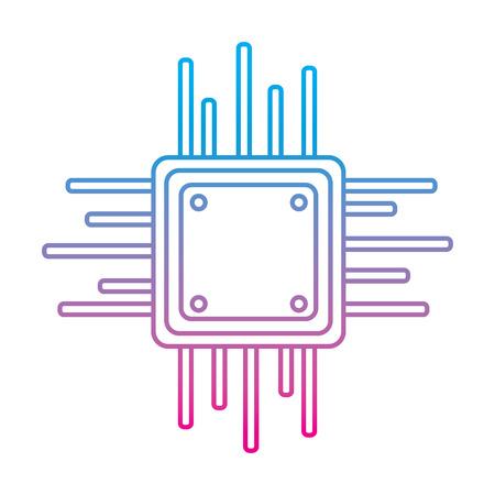 マザーボード回路データプロセッサ技術接続ベクトル図劣化線色画像