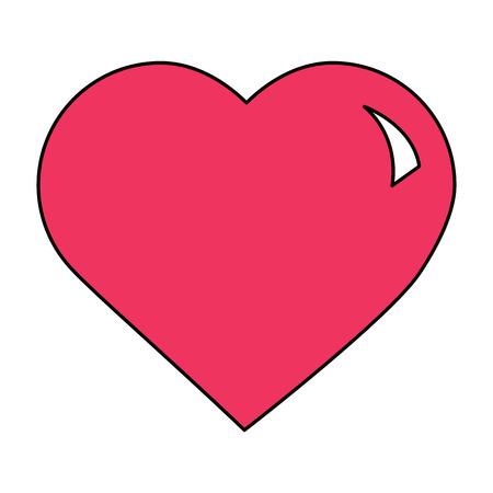 Carino grande cuore amore passione sensazione illustrazione vettoriale Archivio Fotografico - 94885975