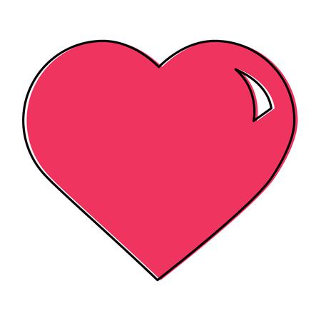 Carino grande cuore amore passione sensazione illustrazione vettoriale Archivio Fotografico - 94886091