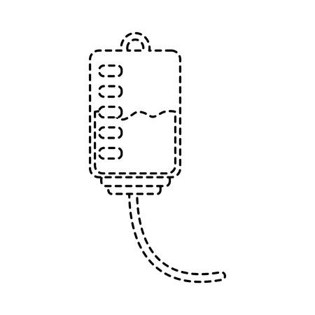 plastic blood bag medical equipment vector illustration sticker style image