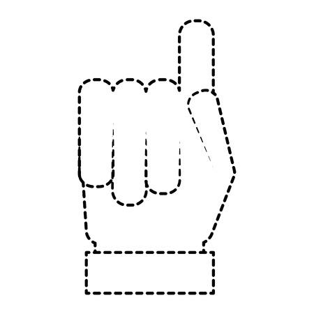 hand gesture with a raised index finger vector illustration sticker style image Ilustração