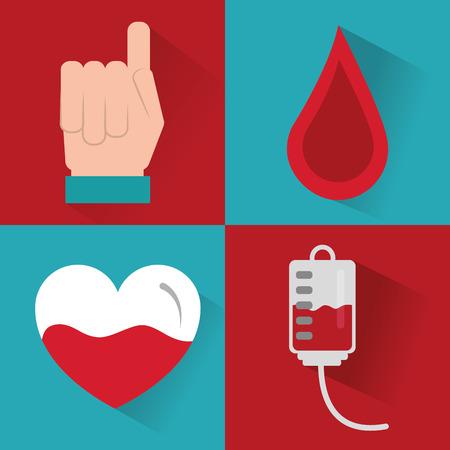 アイコンのセット血友病血中血のカンペリングベクターイラスト  イラスト・ベクター素材