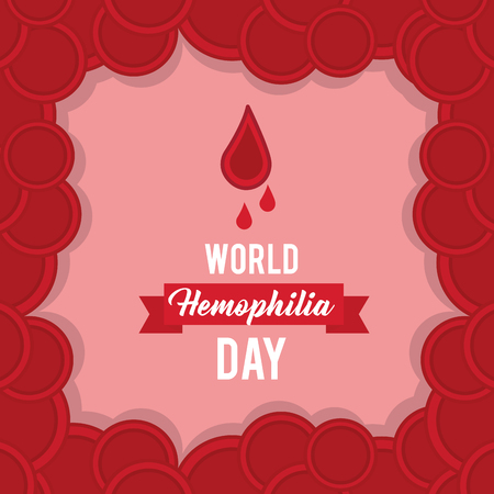 world hemophilia day card with plasma blood vector illustration Illustration