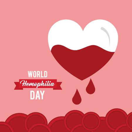 world hemophilia day invitation card healthcare vector illustration