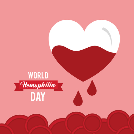 world hemophilia day invitation card healthcare vector illustration