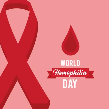 world hemophilia day celebration medical vector illustration