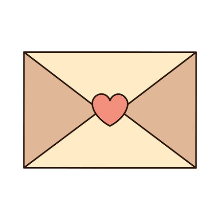 love envelope with heart card icon vector illustration design