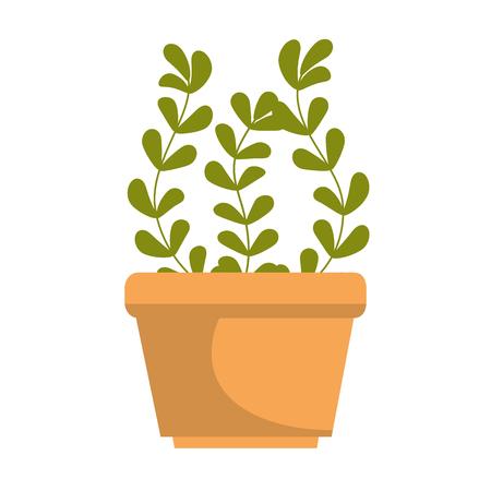 냄비 벡터 일러스트 디자인 하우스 식물 일러스트
