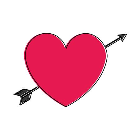 Heart with arrow icon vector illustration design Illustration