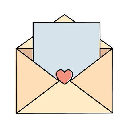 Love envelope with heart card icon vector illustration design Illustration