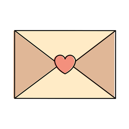 Love envelope with heart card icon vector illustration design Ilustrace