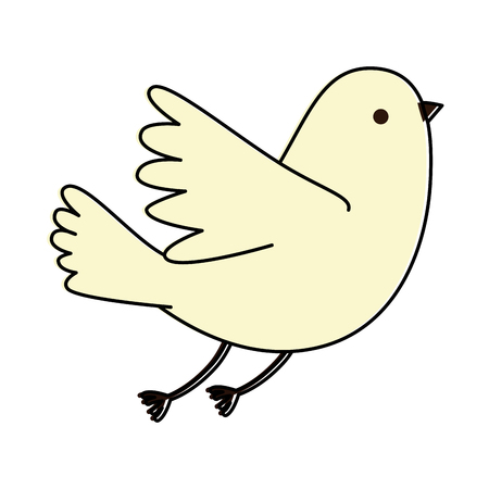 dove flying isolated icon vector illustration design Illustration