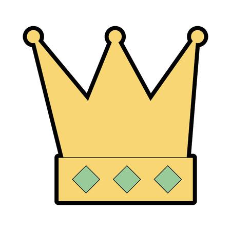 キングクラウン絶縁アイコンベクトルイラストデザイン  イラスト・ベクター素材