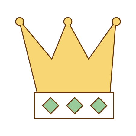king crown isolated icon vector illustration design Stock fotó - 94909240