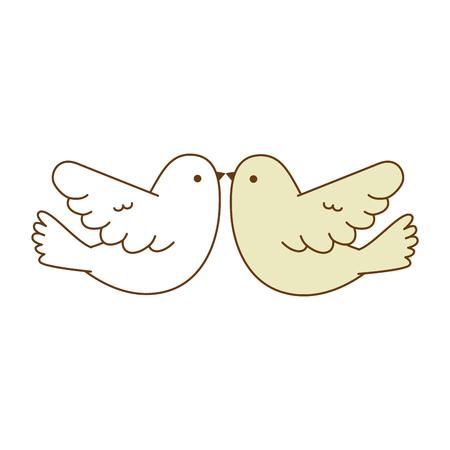 Couple doves flying icon vector illustration design Ilustração