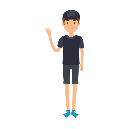 young man with sport clothes avatar character vector illustration design Illustration