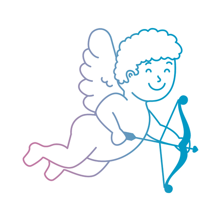 cupid angel with arch vector illustration design