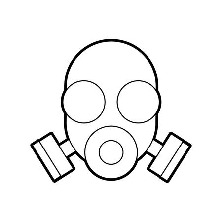 Masque de laboratoire isolé icône vector illustration design Banque d'images - 94941547