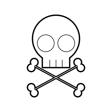skull danger sign icon vector illustration design Stock fotó - 94912749