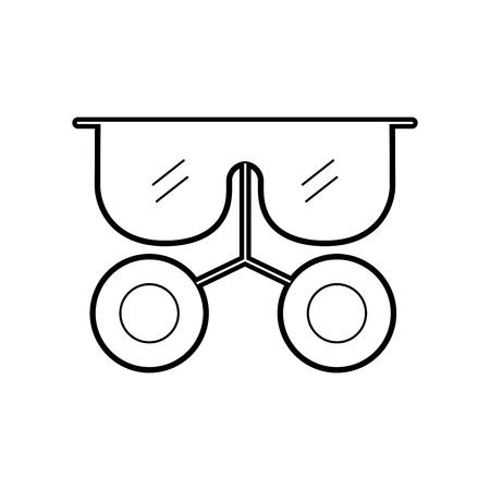 CULos de laboratório isolado ícone vector ilustração design Foto de archivo - 94941681