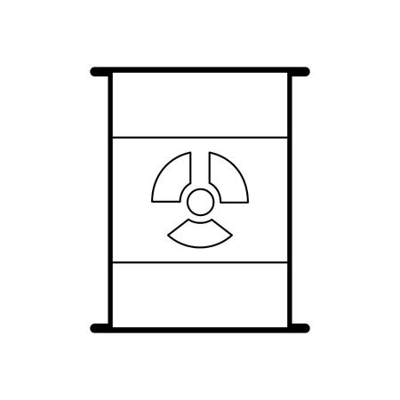 核バレル分離アイコンベクトルイラストデザイン