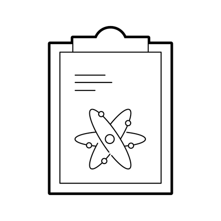 paper clipboard with atom vector illustration design Stock Vector - 94915850