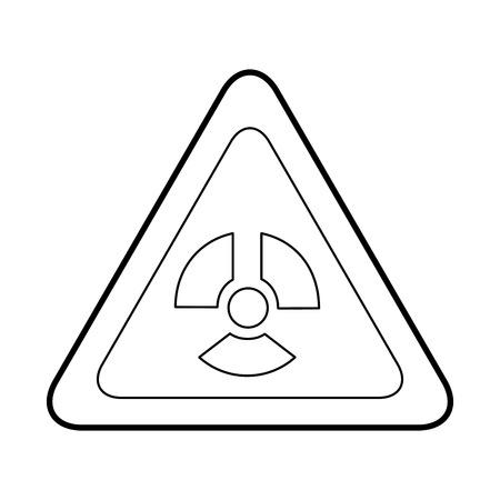 atomic caution signal icon vector illustration design Ilustração