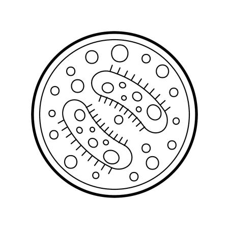 Study of bacteria icon vector illustration design