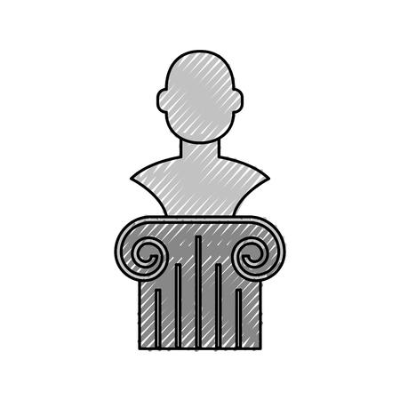 박물관 열 격리 아이콘 벡터 일러스트 디자인