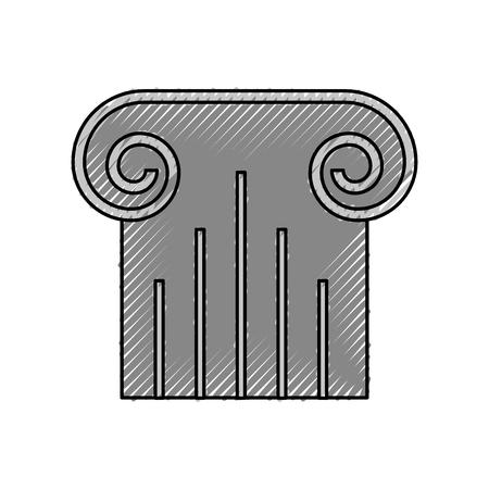 Progettazione dell'illustrazione di vettore dell'icona isolata colonna del museo Archivio Fotografico - 94941849