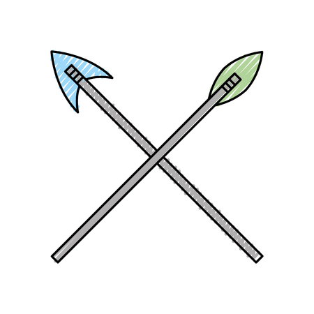 antique arrows isolated icon vector illustration design