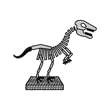 Dinosaur skeleton icon