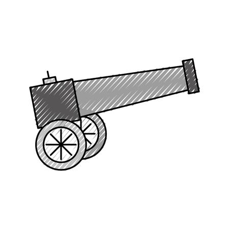 Vieux canon isolé icône illustration vectorielle design Banque d'images - 94914611