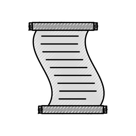 Papyrus geïsoleerd pictogram vectorillustratieontwerp Stock Illustratie