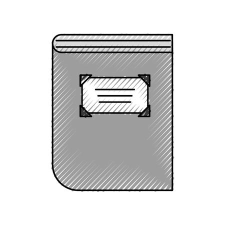 図書館ベクトルイラストデザインの古書  イラスト・ベクター素材