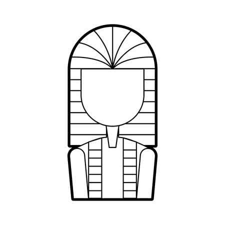 Ancient egyptian tomb icon vector illustration design Çizim