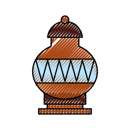 Old museum vase icon vector illustration design Stock fotó - 94916097