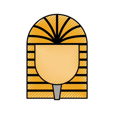Ancient egyptian tomb icon vector illustration design Illustration