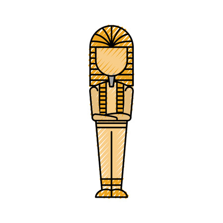 Ancient egyptian tomb icon vector illustration design  イラスト・ベクター素材