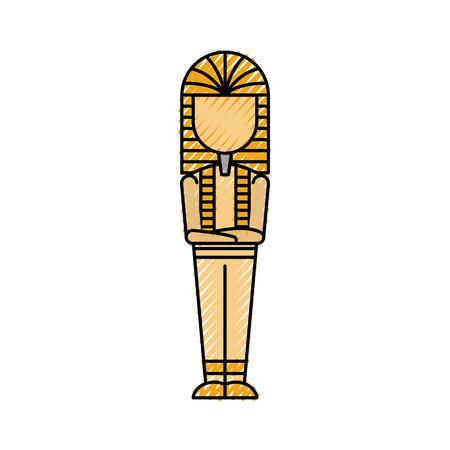 Ancient egyptian tomb icon vector illustration design Vettoriali