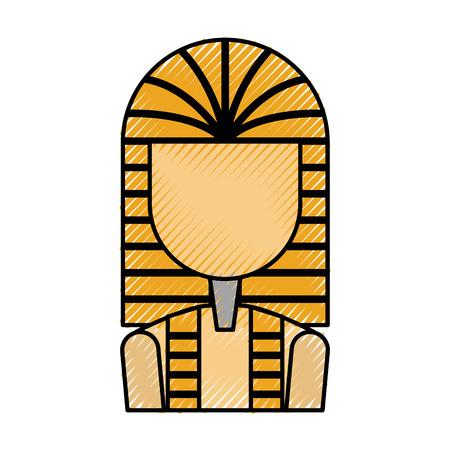 Ancient egyptian tomb icon vector illustration design Illustration