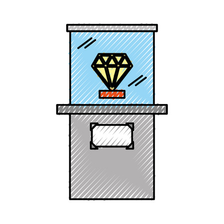 Diamond in museum icon vector illustration design Reklamní fotografie - 94922652