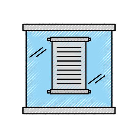 Musée papyrus en conception d'illustration vectorielle verre urne Banque d'images - 94922717