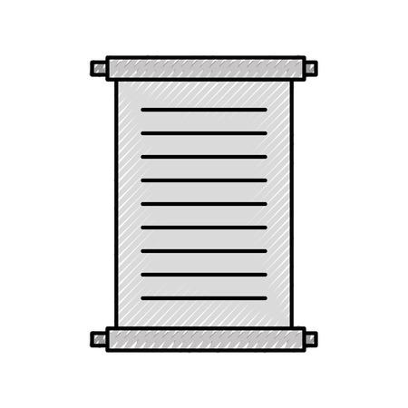 박물관 파피루스 격리 된 아이콘 벡터 일러스트 디자인