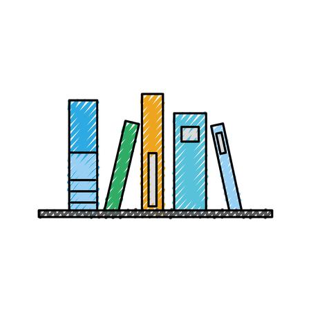 Oud boek van bibliotheek vector illustratie ontwerp