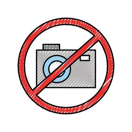 Forbidden to take photos vector illustration design Banque d'images - 94961177