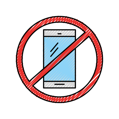 Forbidden to use cell phones vector illustration design Banque d'images - 94922726