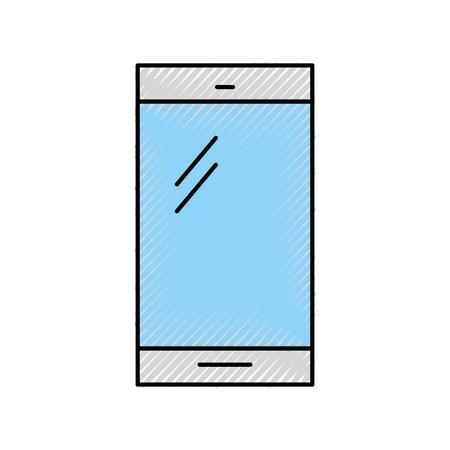 스마트 폰 장치 격리 된 아이콘 벡터 일러스트 디자인