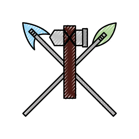 antique arrows and ax isolated icon vector illustration design Фото со стока - 94922768