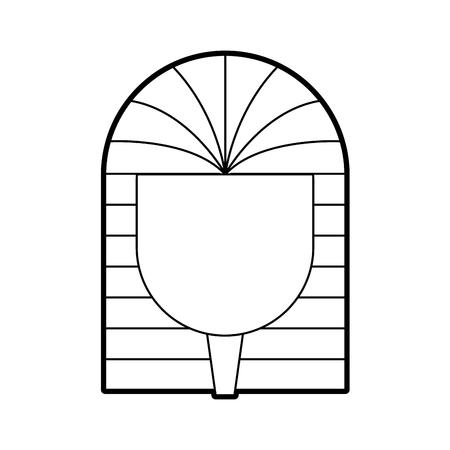 Oude Egyptische Tomb icon vector illustratie ontwerp
